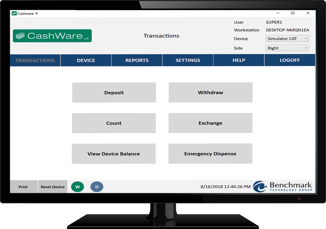 CashWare is middleware for your cash recycler or cash dispenser. CashWare can be used to connect your core provider teller application to your cash recycler.